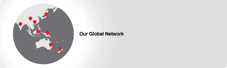 Our Global Network banner - globe marked where LJ Hooker services are